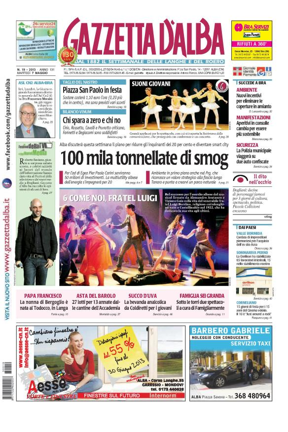Gazzetta d'Alba del 7 maggio 2013